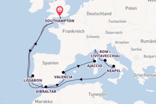 In 18 Tagen nach Southampton