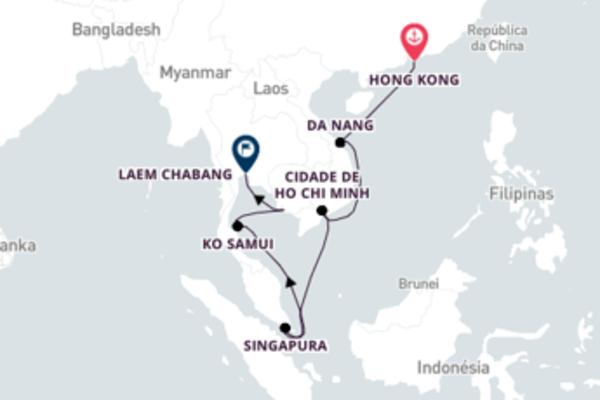 De Hong Kong até a Tailândia com o Crystal Symphony