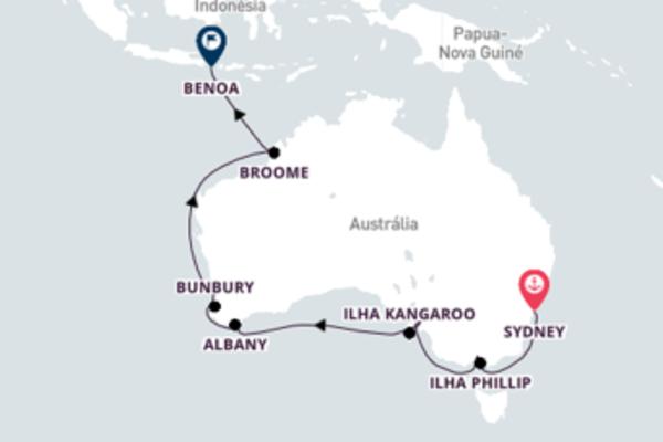 Extraordinário passeio de 22 dias a bordo do Seabourn Sojourn