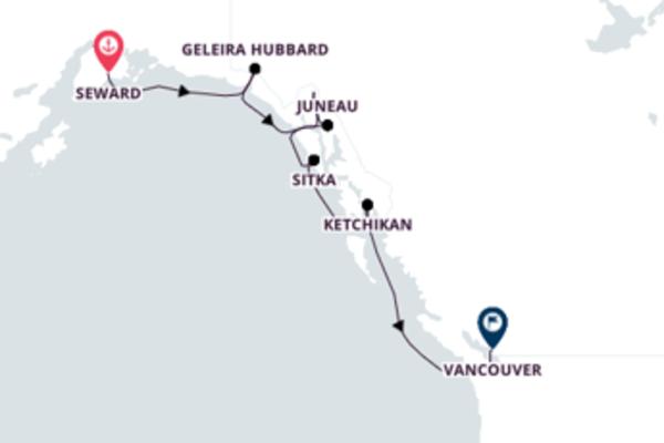 Admirável cruzeiro até Vancouver