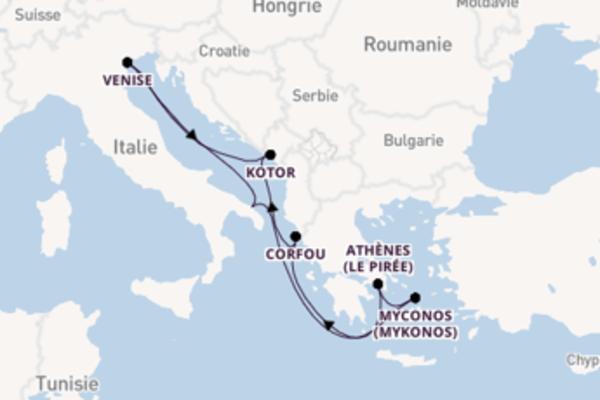 Croisière de 8 jours depuis Brindisi avec MSC Croisières
