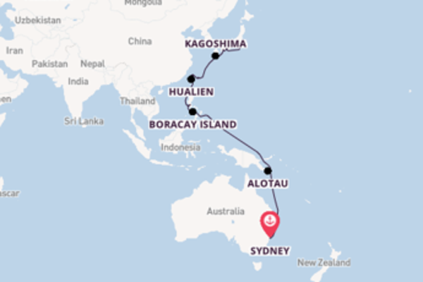 Sydney to Tokyo Repositioning with Pacific Princess