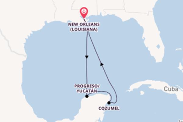 6 giorni verso New Orleans passando per Cozumel