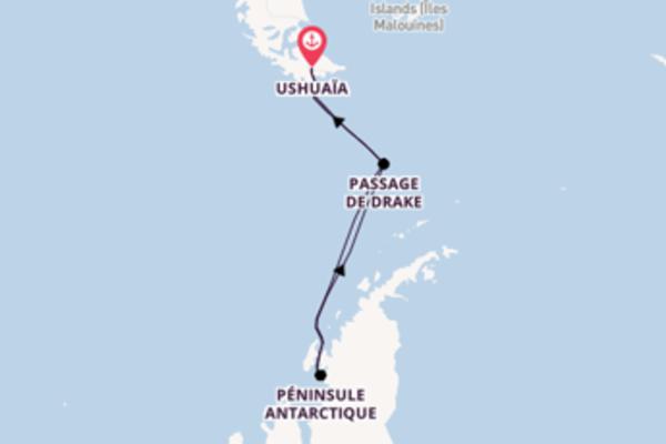 Croisière de 11 jours vers Ushuaia avec Ponant