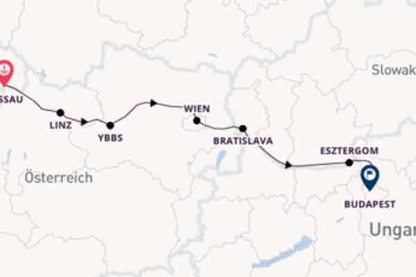Passau, Deutschland und Bratislava, Slowakei erleben
