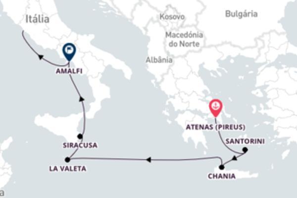 Lindo passeio pelas ilhas gregas com o Crystal Symphony