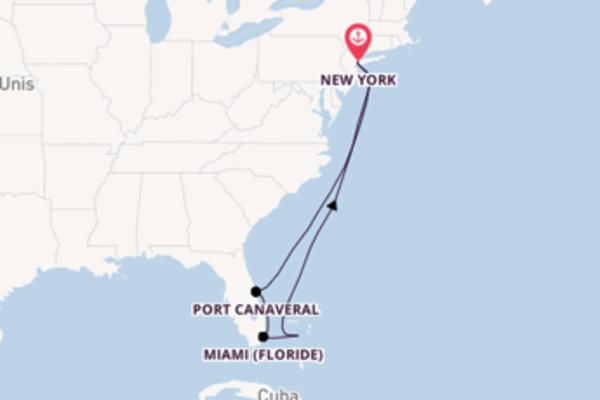 8 jours pour découvrir Miami (Floride) à bord du beateau Norwegian Gem