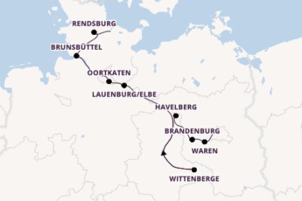 Wundervolle Reise von der Kieler Förde bis zum Wannsee