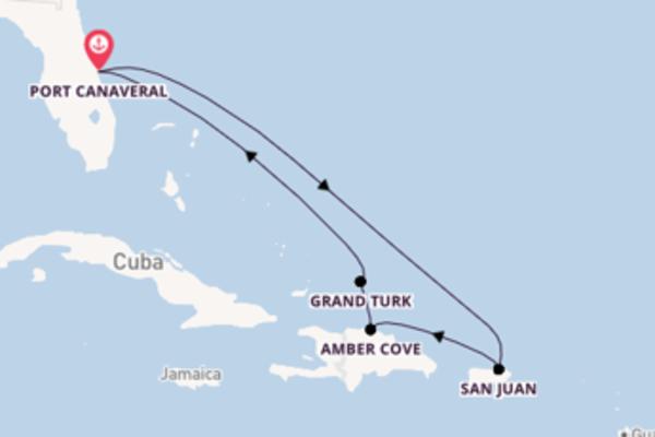 Fare rotta verso San Juan a bordo di Mardi Gras