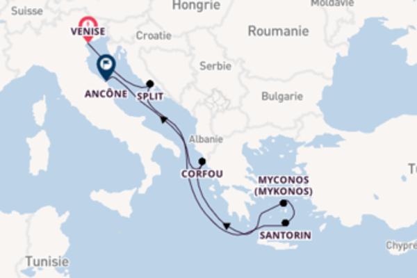 7 jours de navigation à bord du bateau MSC Opera depuis Venise