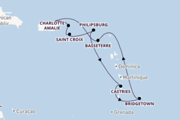 Sailing from San Juan with the Vision of the Seas