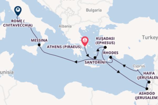 Delightful Athens (Piraeus) to delightful Rome (Civitavecchia)