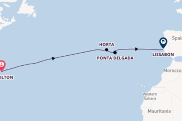 Cruise naar Lissabon via Hamilton