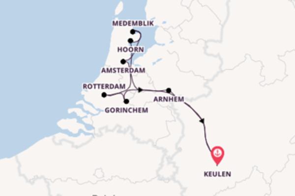 Cruise naar Keulen via Gorinchem