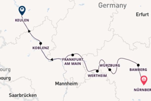 Geniet van een 8-daagse cruise naar Keulen