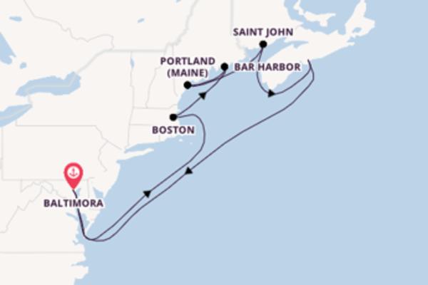 Seducente viaggio di 10 giorni passando per Boston