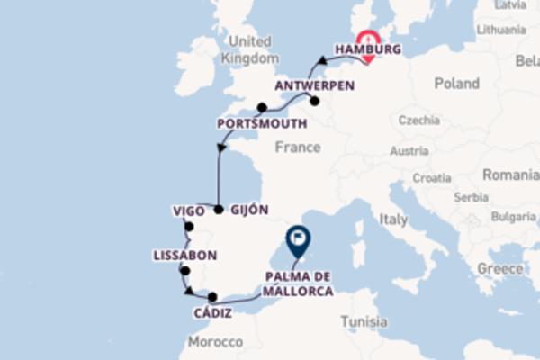 Ga mee op de AIDAcara naar Palma de Mallorca