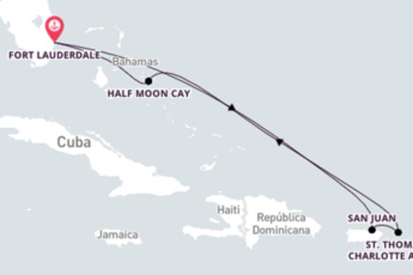 Jornada de 8 dias até Fort Lauderdale, Flórida com o Nieuw Amsterdam
