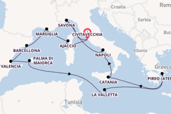 15 giorni di crociera fino a Civitavecchia