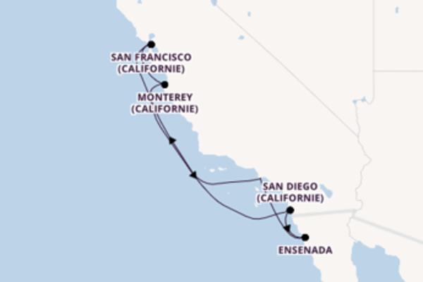 8 jours pour découvrir San Diego (Californie) à bord du beateau Royal Princess