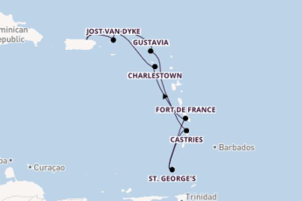 Scopri Fort de France arrivando a San Juan