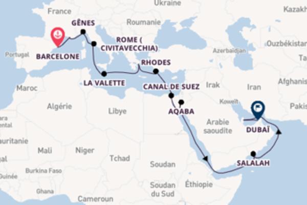 Superbe croisière vers Dubaï via Aqaba