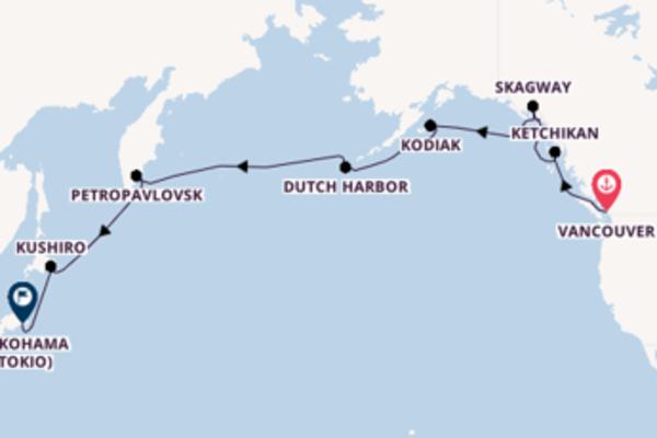 In 19 Tagen nach Yokohama (Tokio) über Kodiak