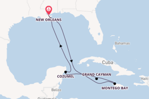Voyage with Carnival Cruise Lines from New Orleans