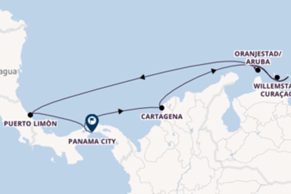 Sailing from Colón via Cartagena
