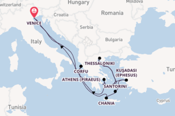 Expedition from Venice with the Celebrity Infinity