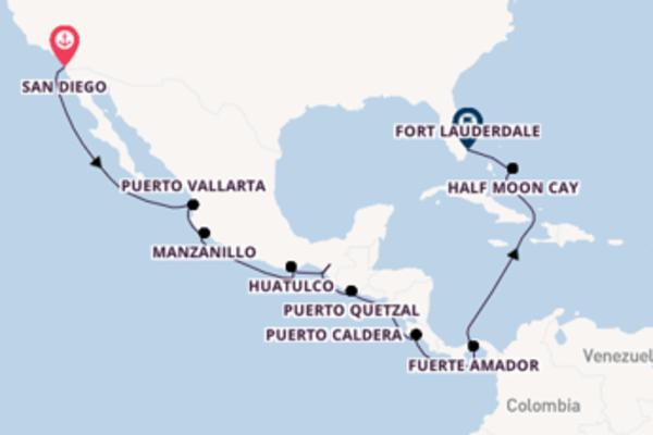 Fare rotta verso Canale di Panama a bordo di MS Volendam