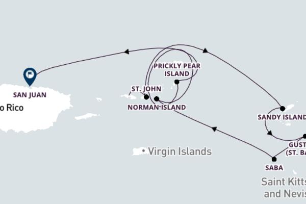 Saint Thomas to San Juan with SeaDream I