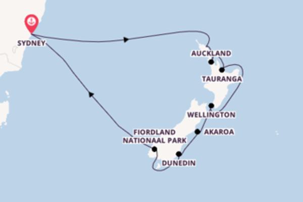 Fiordland Nationaal Park ontdekken met de Majestic Princess
