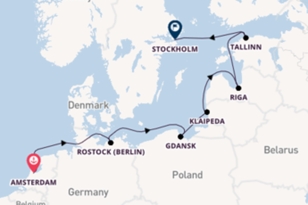 Cruising with Norwegian Cruise Line from Amsterdam to Stockholm