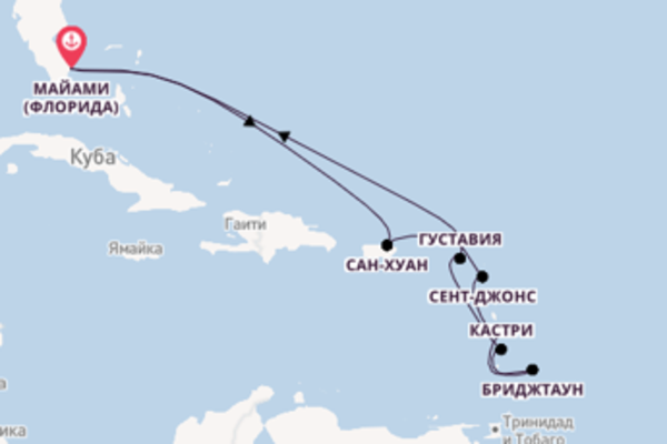 Шикарный круиз на 13 дней с Regent Seven Seas Cruises