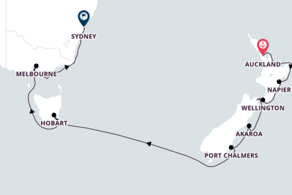 Auckland to Sydney with ms Oosterdam