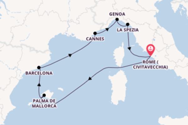 Expedition from Rome (Civitavecchia) with the MSC Grandiosa