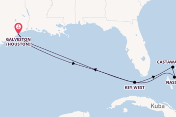 Bahamas ab/bis Galveston
