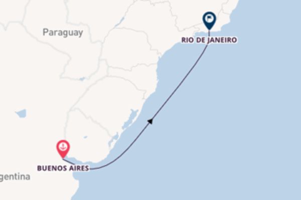 5 giorni verso Rio de Janeiro passando per Buenos Aires