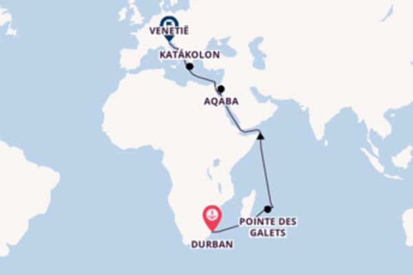 Cruise in 25 dagen naar Venetië met MSC Cruises