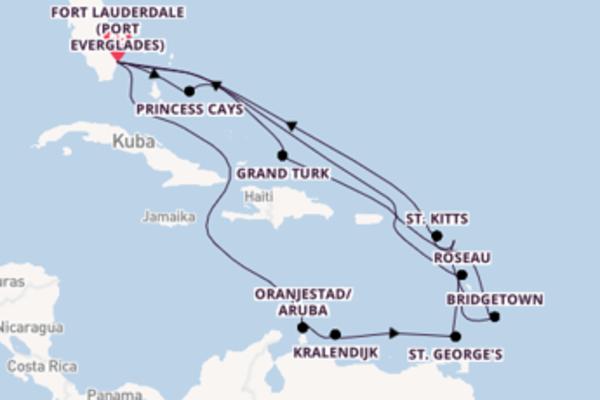 In 21 Tagen nach Fort Lauderdale