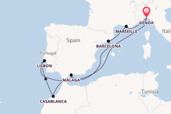 Vibrant trip from Genoa with MSC Cruises