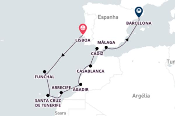 De Lisboa a Barcelona com o Crystal Symphony