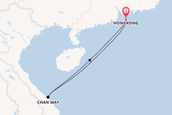 Zauberhafte Kreuzfahrt über Chan May nach Hongkong