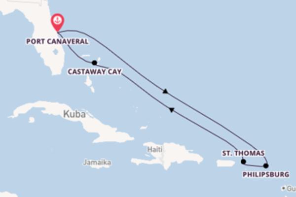 8-tägige Kreuzfahrt bis Port Canaveral