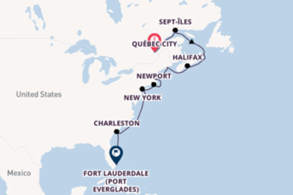 Voyage with Princess Cruises from Québec City