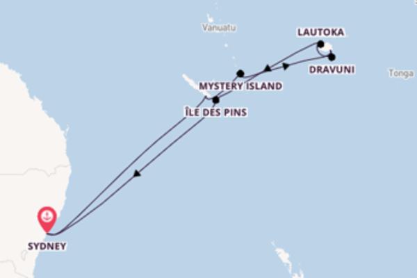 14-tägige Kreuzfahrt bis Sydney