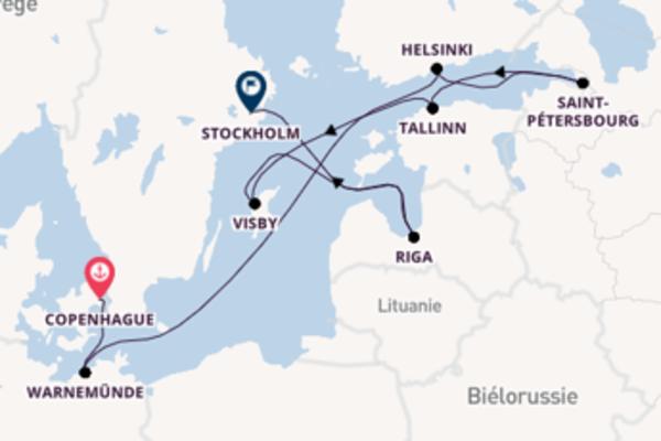 Tallinn depuis Copenhague pour une croisière de 11 jours