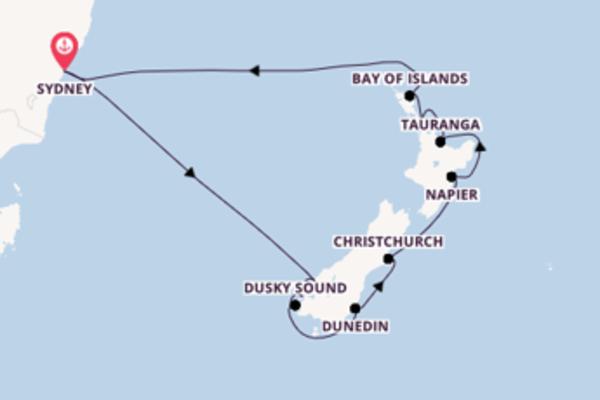 14 Tage Neuseeland Kreuzfahrt