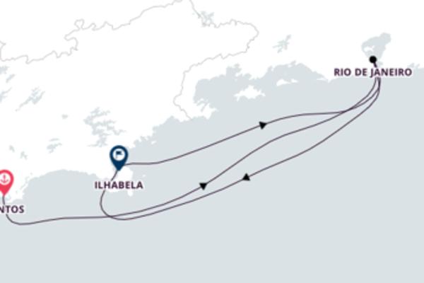 Sensacional cruzeiro de 5 dias até Rio de Janeiro